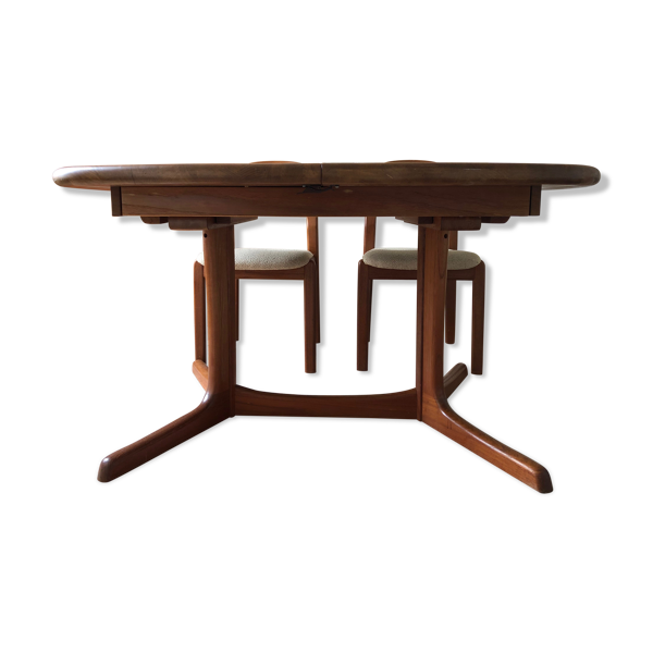 Selency Table scandinave en teck 2 rallonges Dyrlund