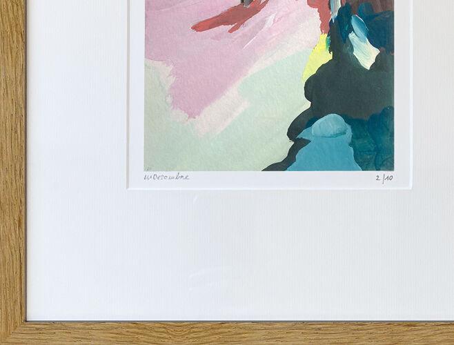 Marcher en secret by Margaux Desombre tirage d'art en édition limitée