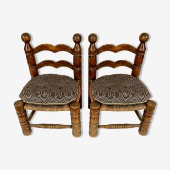 Paire de chaises bretonnes années 30