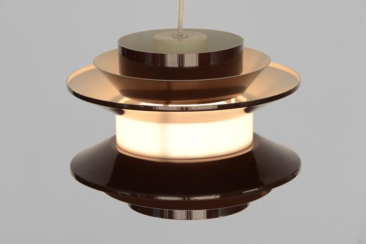Suspension «Trava» version brune de Carl Thore pour Granhaga Metallindustri, Suède années 1970.