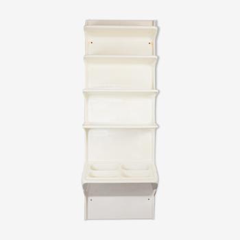 Bibliothèque avec étagères en plastique  des années 70