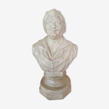 Buste écrivain  Honoré de Balzac patiné
