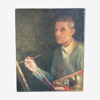Portrait d'un artiste inconnu