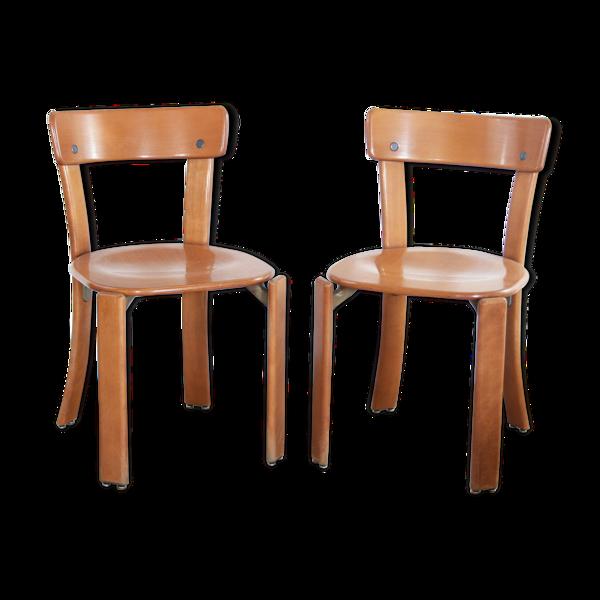 Selency Set de 2 chaises Bruno Rey pieds courbés