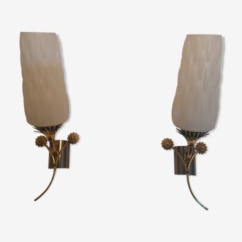 Pair of vintage wall light Maison Arlus
