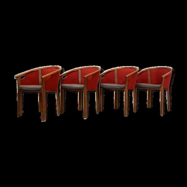 Set of 4 chairs teak by Magnus Olesen Rud Thygesen & Johnny Sørensen