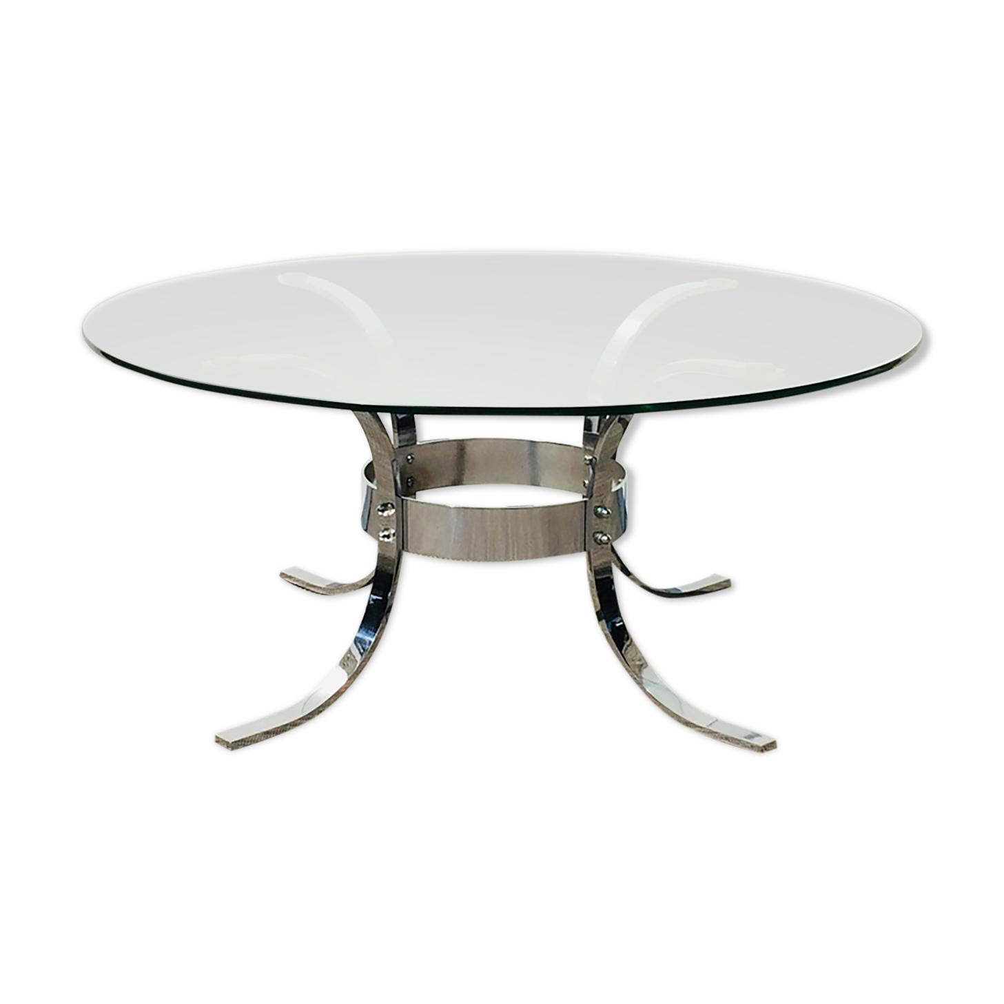 Table basse ronde vintage 70