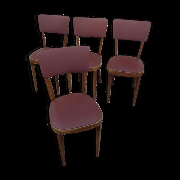 Set de 4 chaises Baumann en skai