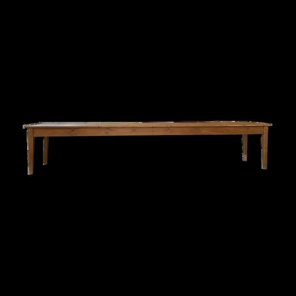 Selency Table de ferme pin et hêtre XXL 4m