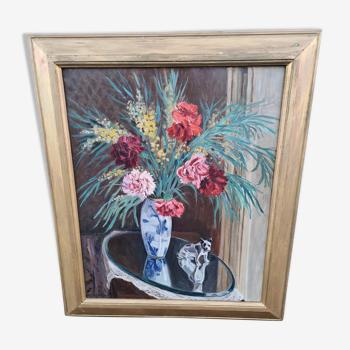Tableau fleurs vintage