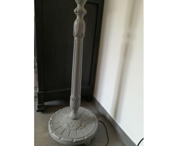 Pied de lampadaire ancien en bois