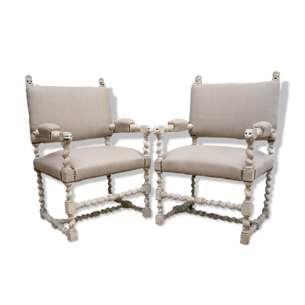 Paire de fauteuils suédois