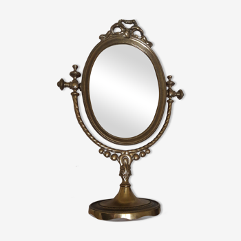 Miroir psyché en laiton 29x41cm