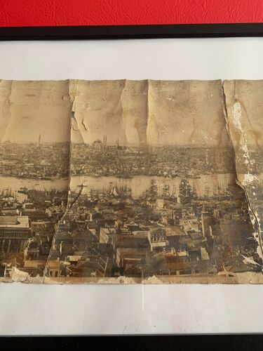 Photographie panoramique ancienne Istanbul en Turquie