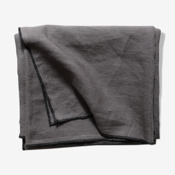 Anthracite linen tablecloth