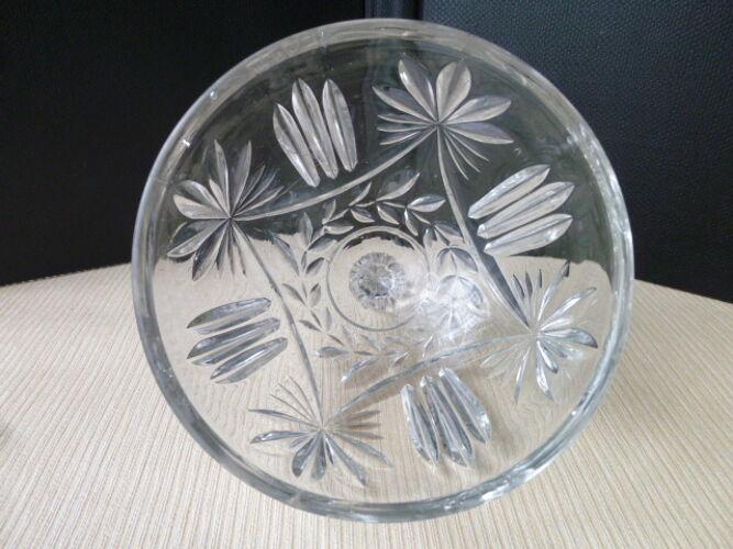 Cloche à fromage en verre taillé