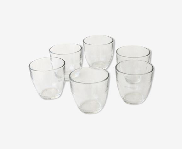 6 verres gigognes duralex vintage  - modèle classique