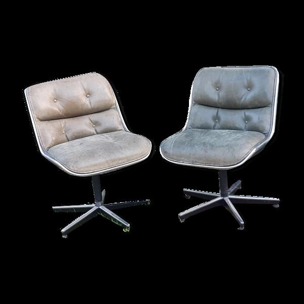 Paire de fauteuils de Charles Pollock, Knoll