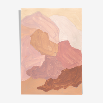 Impression abstraite 'Palecloud' par Borneo Studio A3