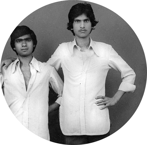 Portrait de deux amis à Jaipur II