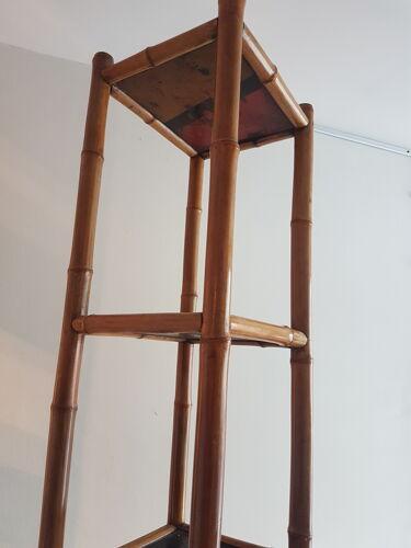 Colonne étagère bambou