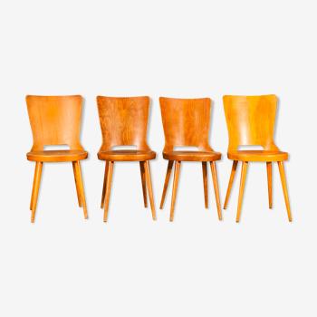 Suite de 4 chaises Baumann modèle Dove
