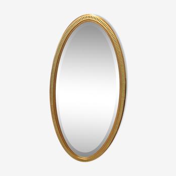 Miroir ovale style Empire 134x67cm