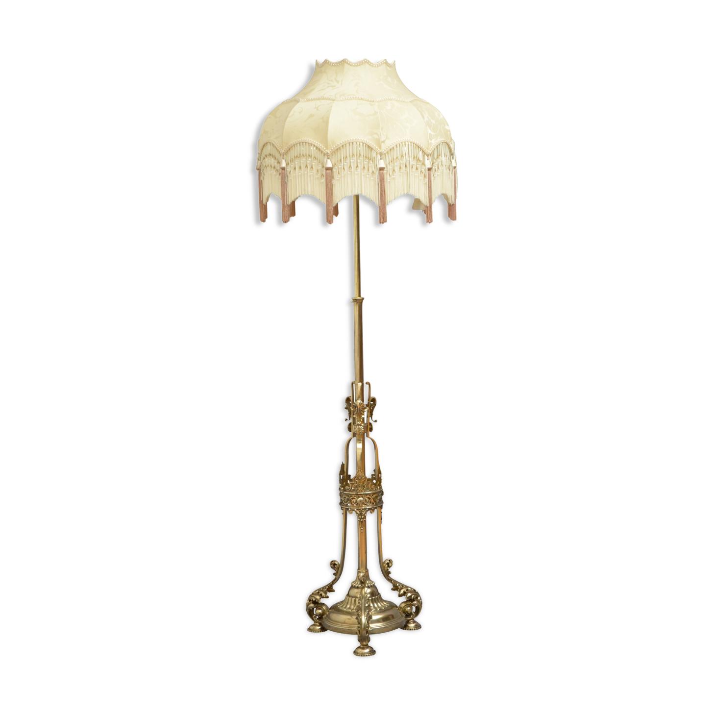 Victorian Brass Floor Standard Lamp par R. W. Winfield, Birmingham