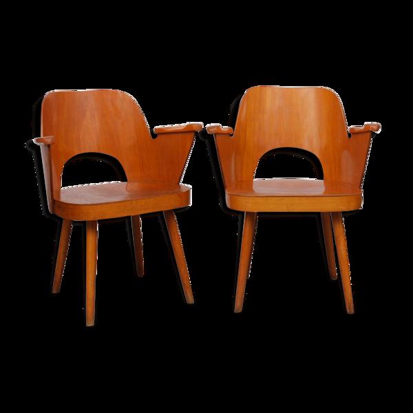 Selency Paire de fauteuils par Lubomir Hofmann pour Ton, 1960