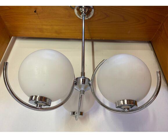 Lampe vintage- lampe suspension spoutnik par kaiser leuchten 1960