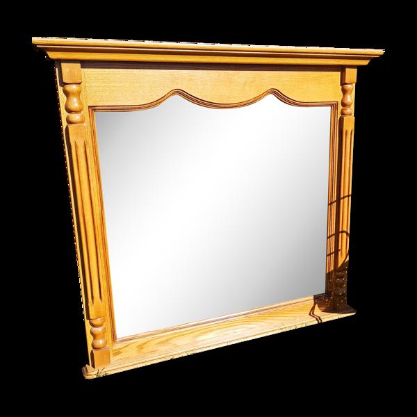 Miroir ancien en chêne 108x102cm