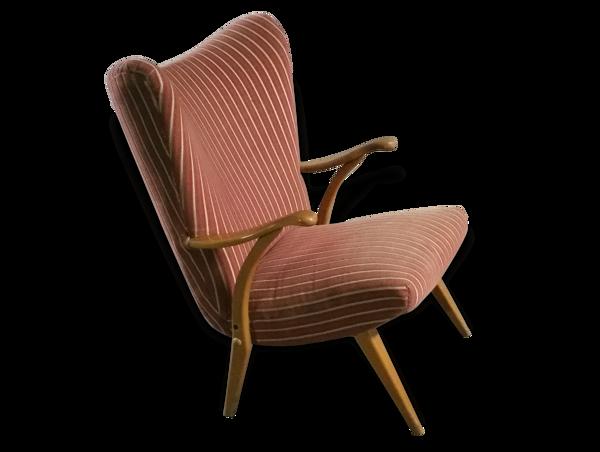 Selency 1 fauteuil Bergere wing chair scandinave Danois années 50 60
