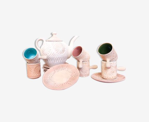 Service a thé oriental en terre cuite