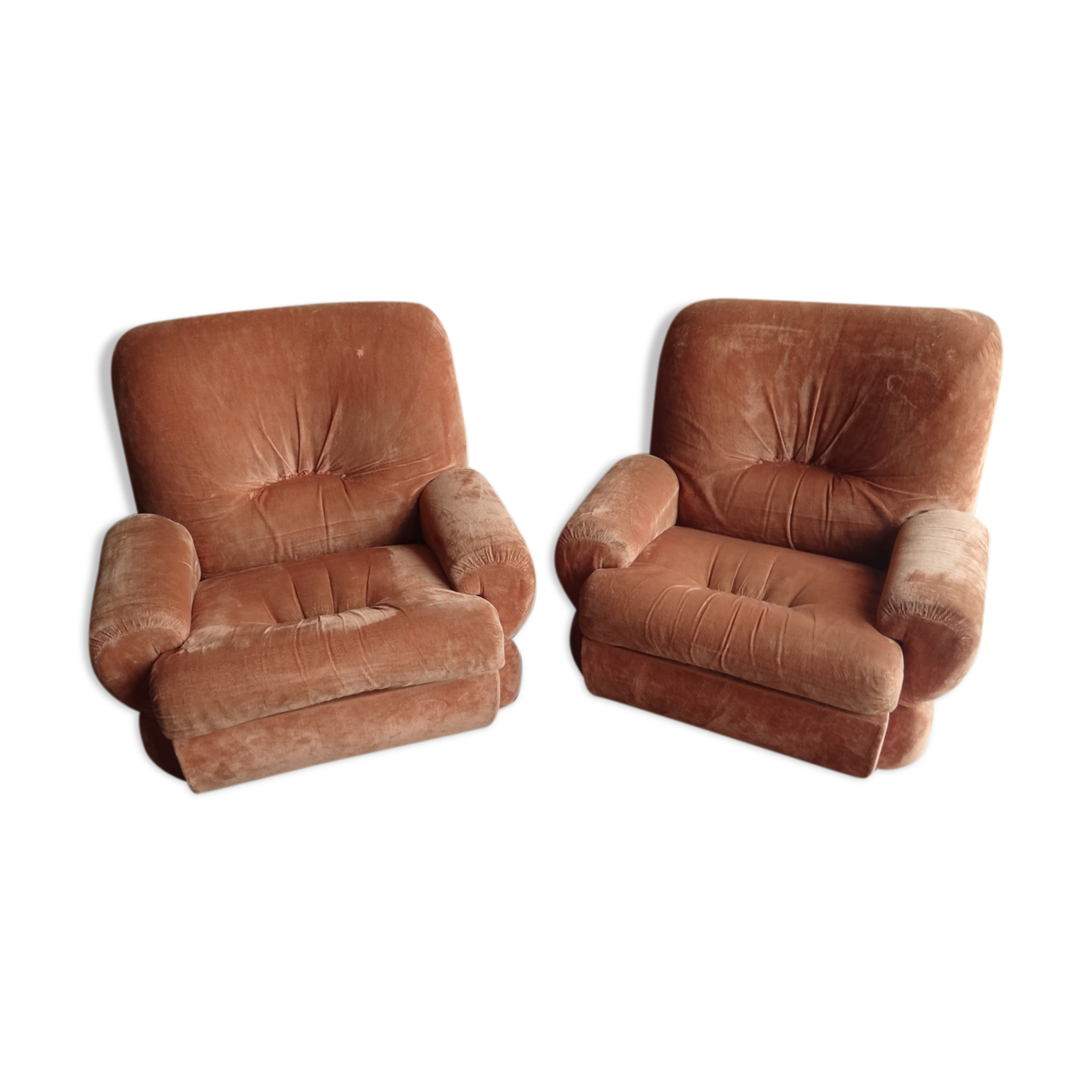Paire de fauteuils vintage 70 space age