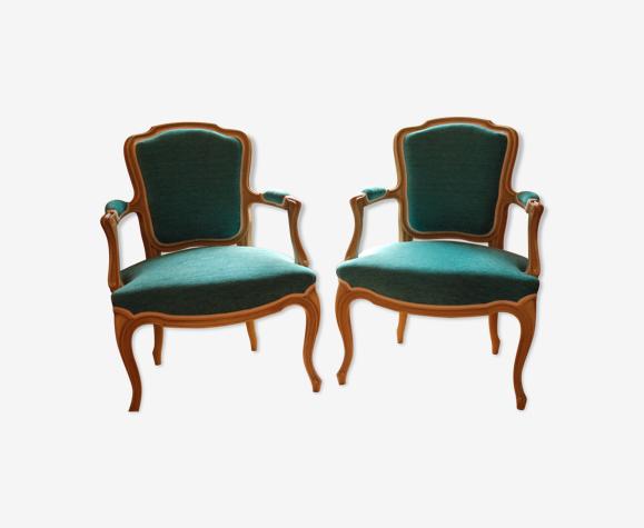 Lot de 2 fauteuils cabriolet refaits à neuf