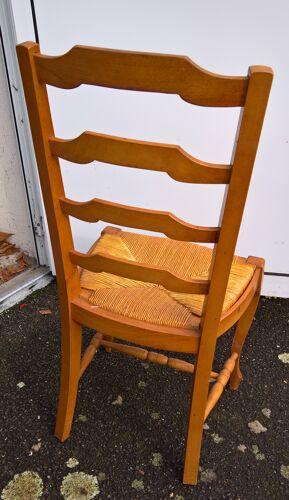 Chaise bois clair assise paille