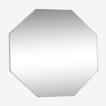 Hexagonal beveled mirror 27 cm