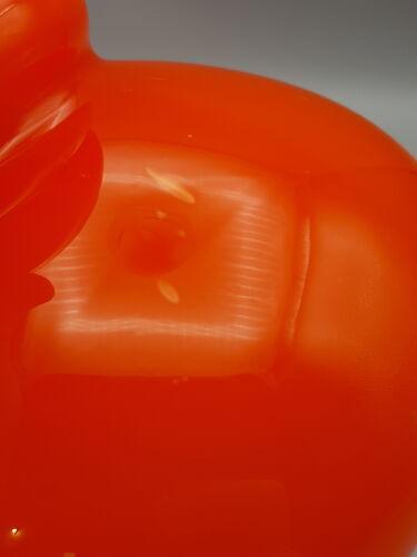 Abat-jour vintage orange en verre années 70