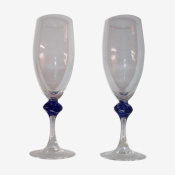Duo de verres a champagne vintage Luminarc