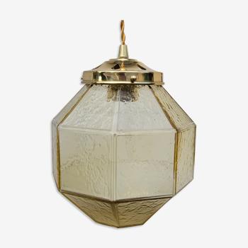 Suspension globe à facettes