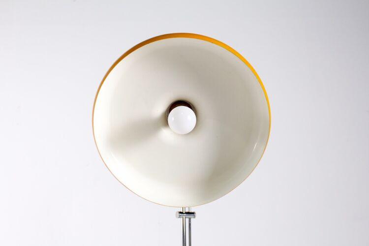 Lampadaire ajustable et orientable jaune 1970s