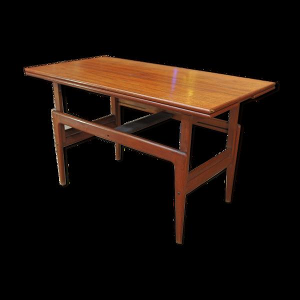 Selency Table de salle à manger extensible en teck de Samcom 1960s