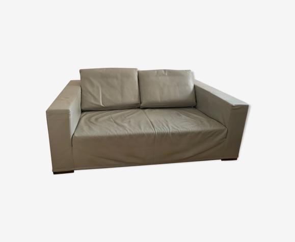 Design leather sofa molteni