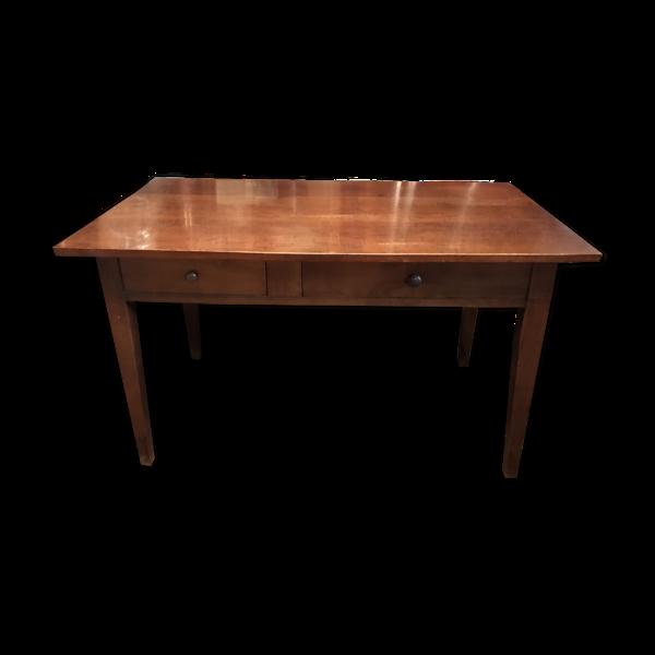 Selency Table de cuisine en merisier