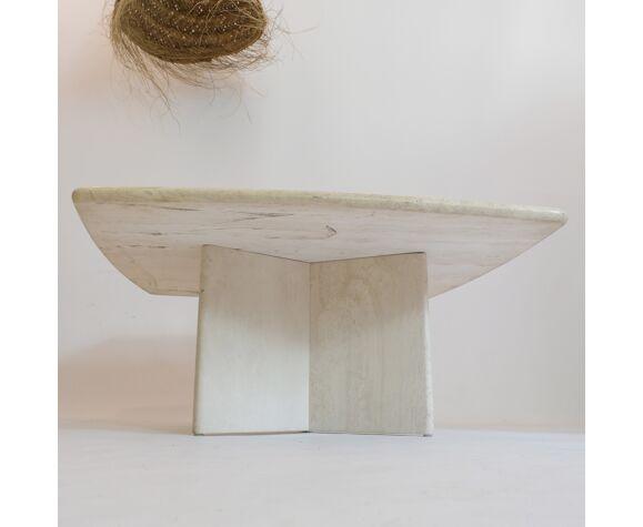 Table basse en travertin, Italie, 1970