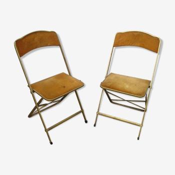 Paire de chaises pliantes Chaisor des années 70