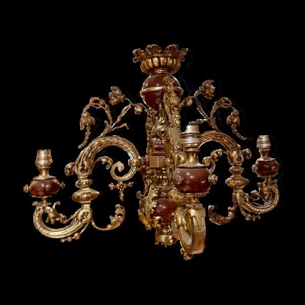 Lustre ornementé d'époque Napoléon III