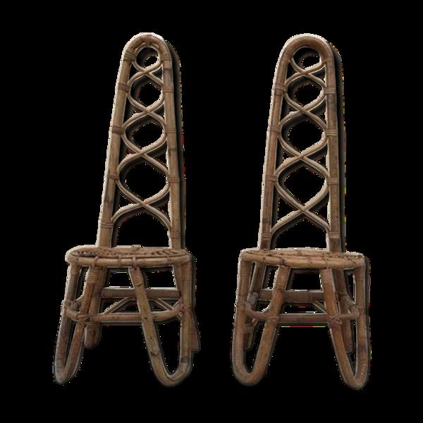Selency Paire de chaises vintage