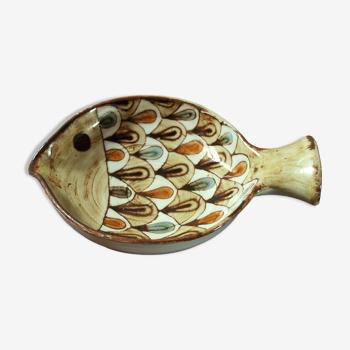 Vide poche poisson en céramique de Jean-Claude Malarmey, années 60