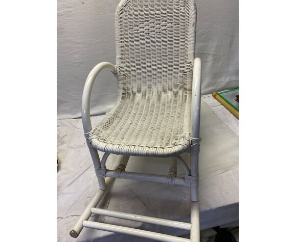 Rocking-chair chair enfant vintage rotin